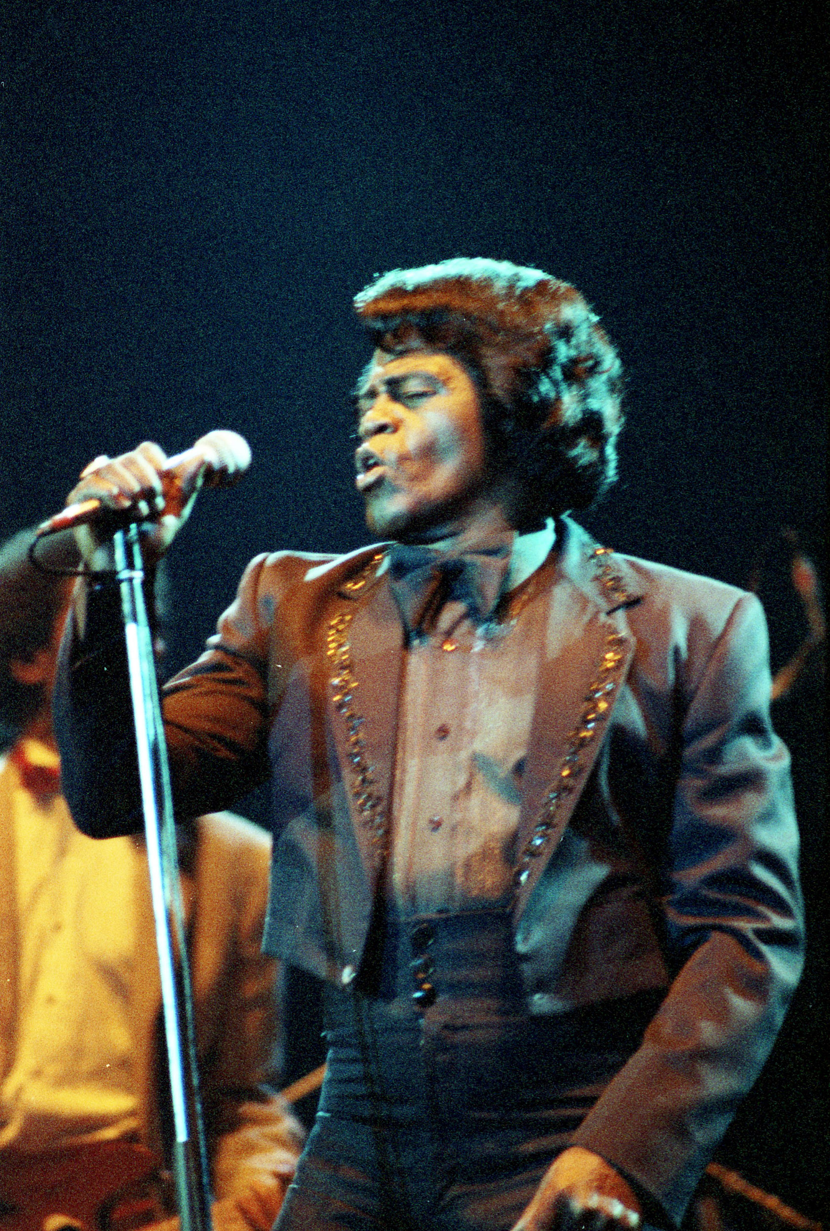 pop muziek popmuziek muzikanten artiest James Brown Ahoy Rotterdam Nederland 20-04-1986 Godfather of Soul Amerikaanse zanger funk rhythm blues