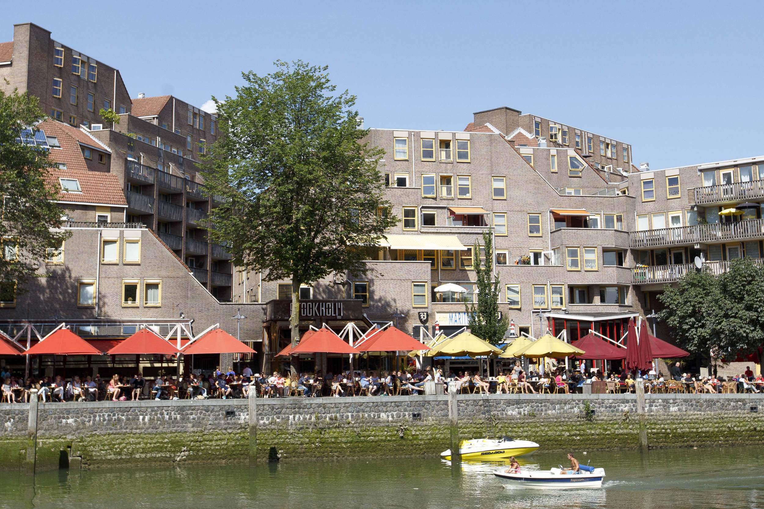 Rotterdam Oude Haven Vol Terras Water Bootje