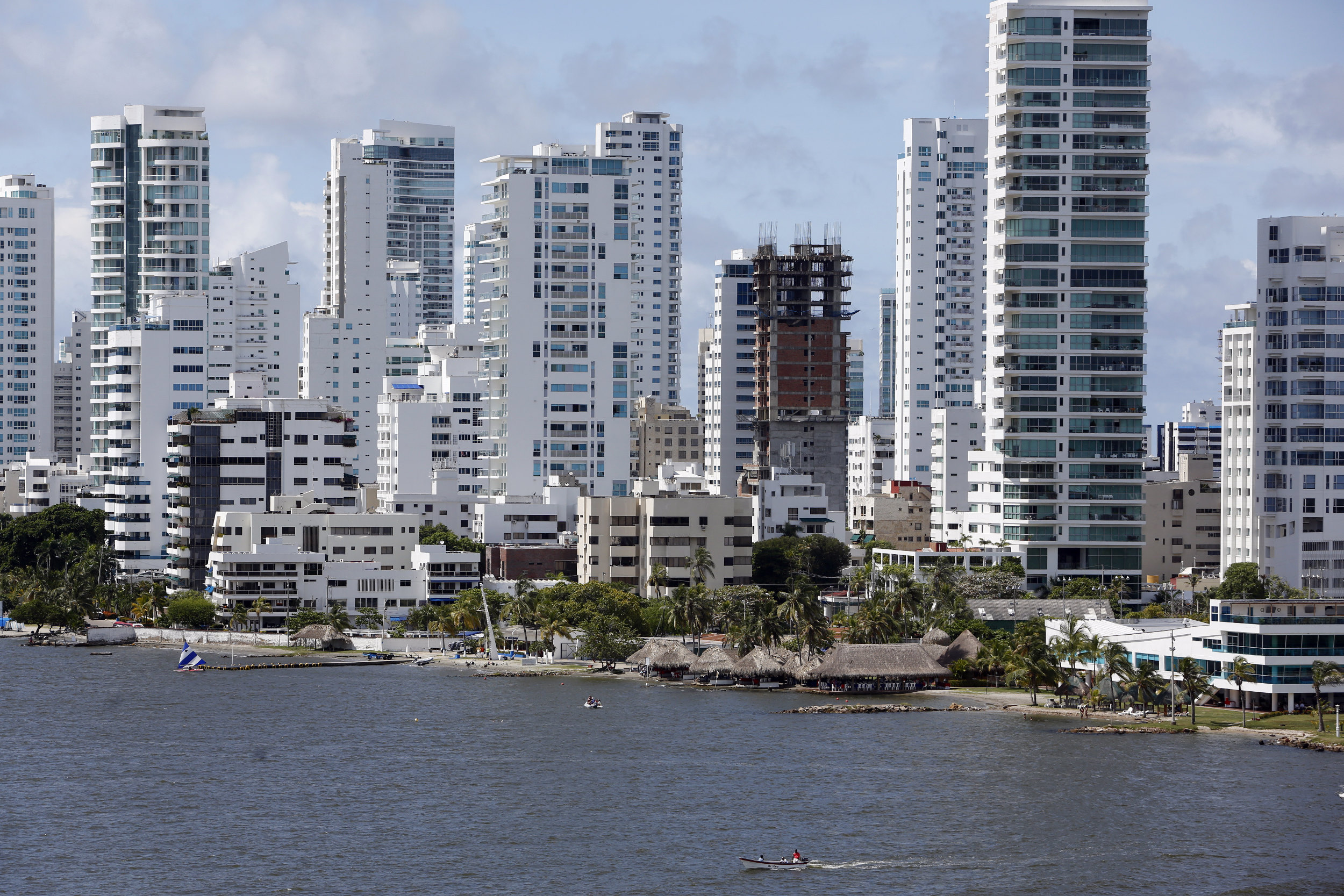 Colombia Cartagena Skyline Water Boten