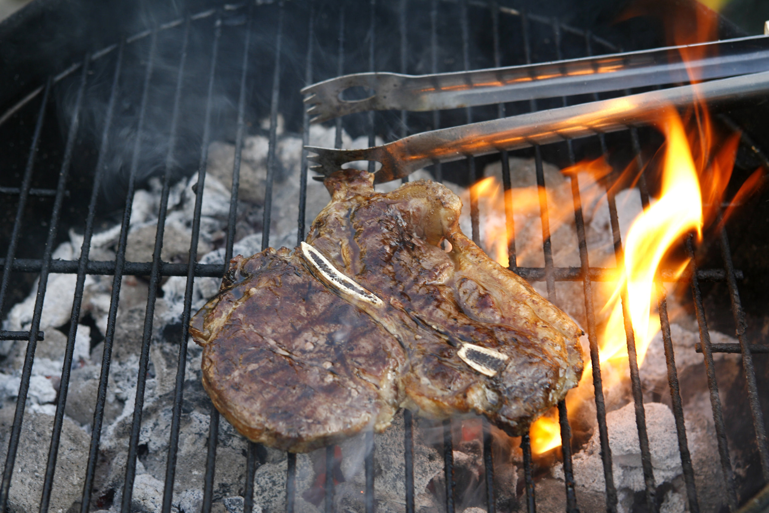 barbeque BBQ vlees meat grill briketten briquettes vuur fire