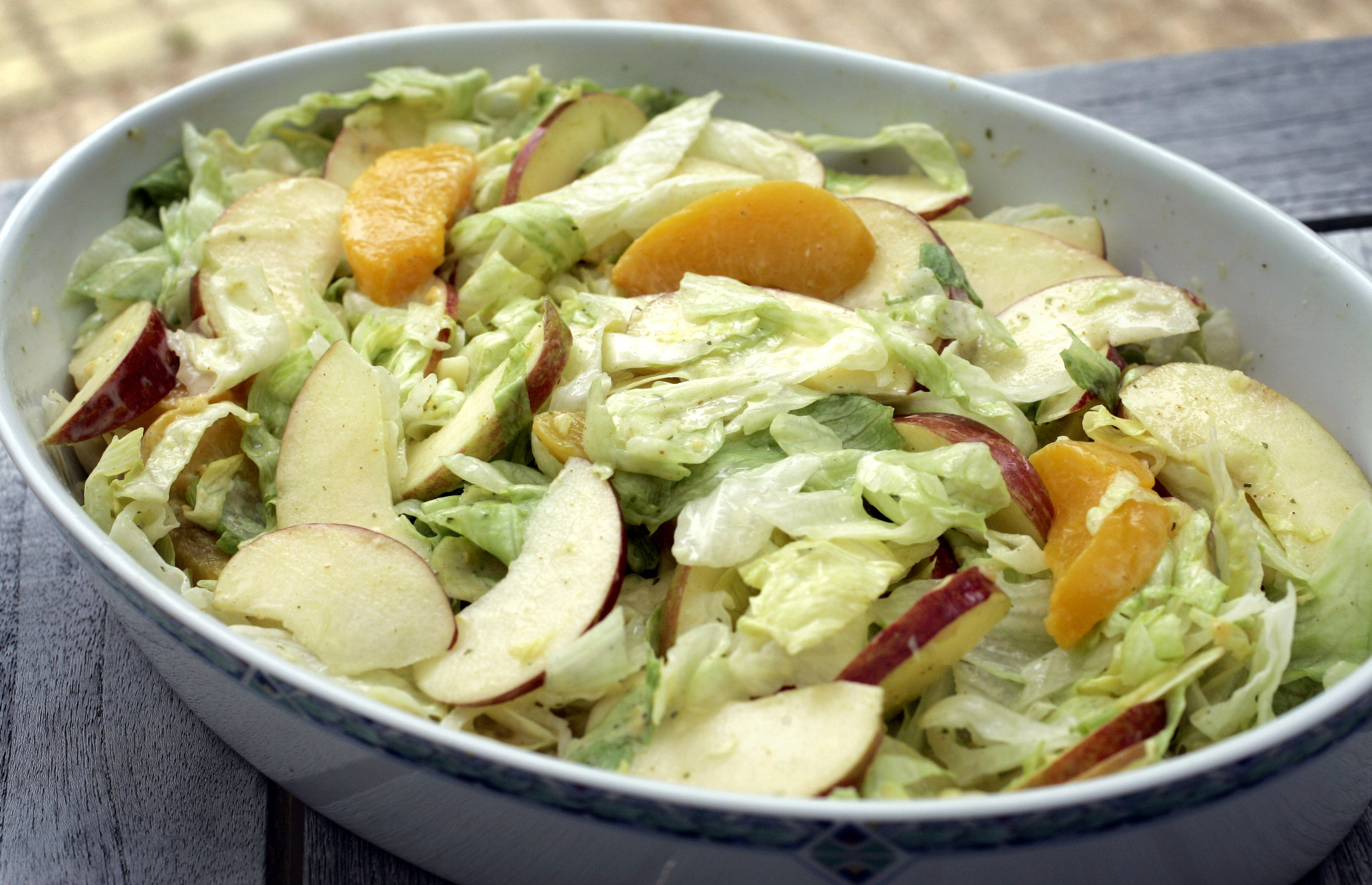 salade groente vegetable fruit appel apple sla lettuce